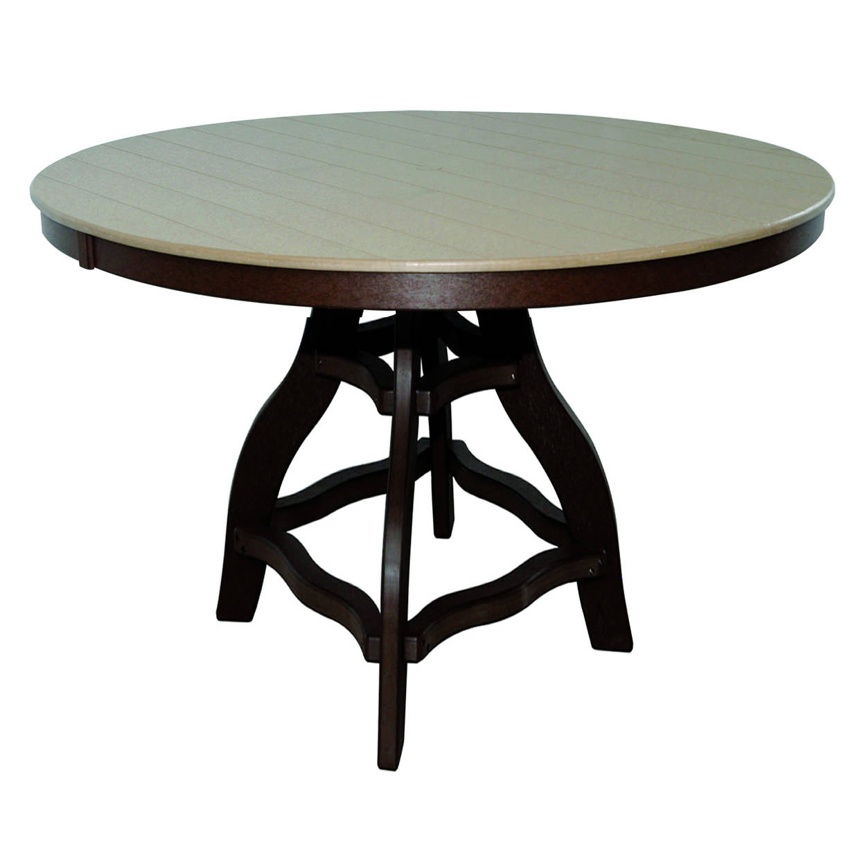 Amish Poly Bar Height 54in Round Table