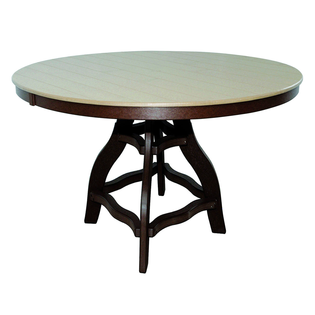 Amish Poly Bar Height 60in Round Table