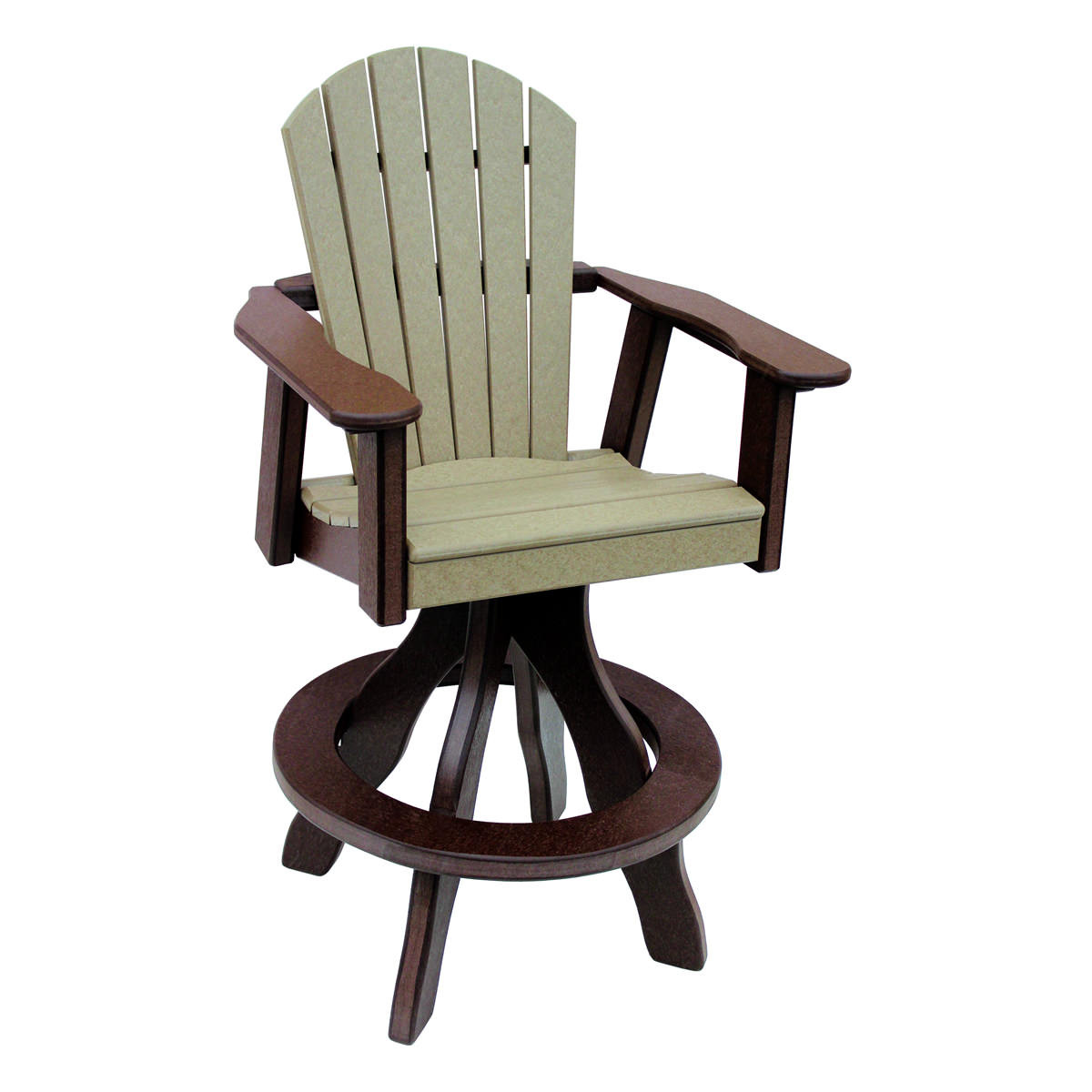 Amish Poly Bar Height Comfy Back Swivel Chair