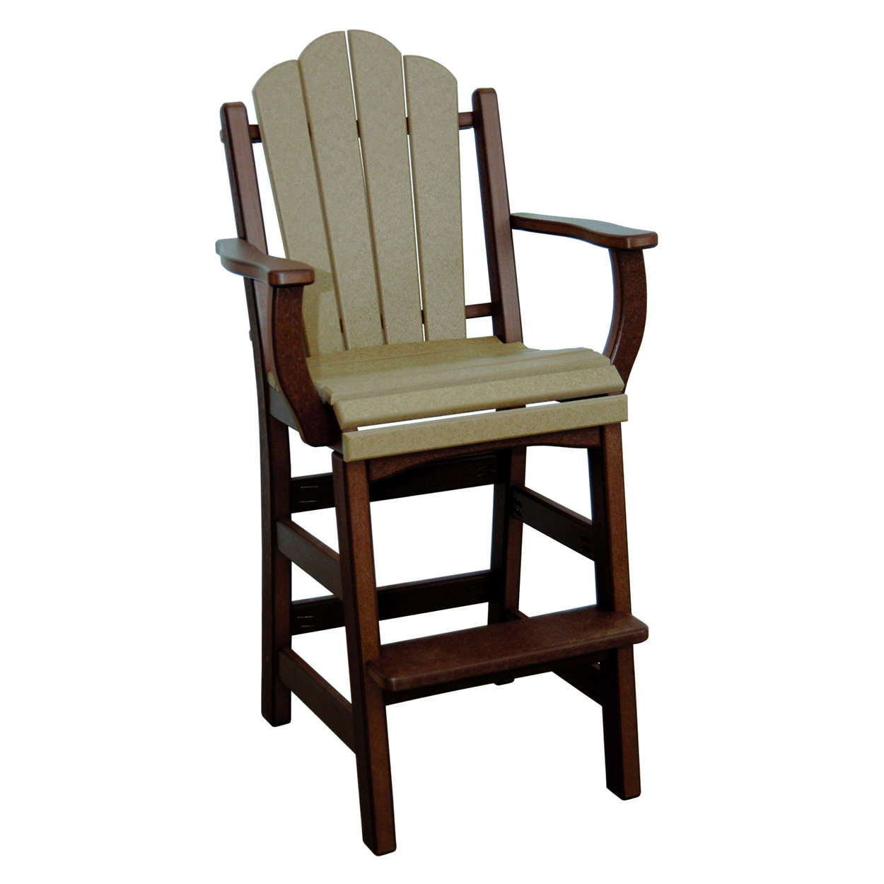 Amish Poly Bar Height Daisy Arm Chair