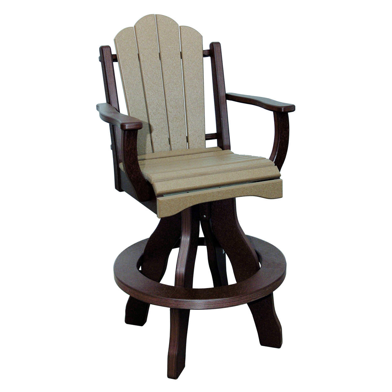 Amish Poly Bar Height Daisy Arm Swivel Chair
