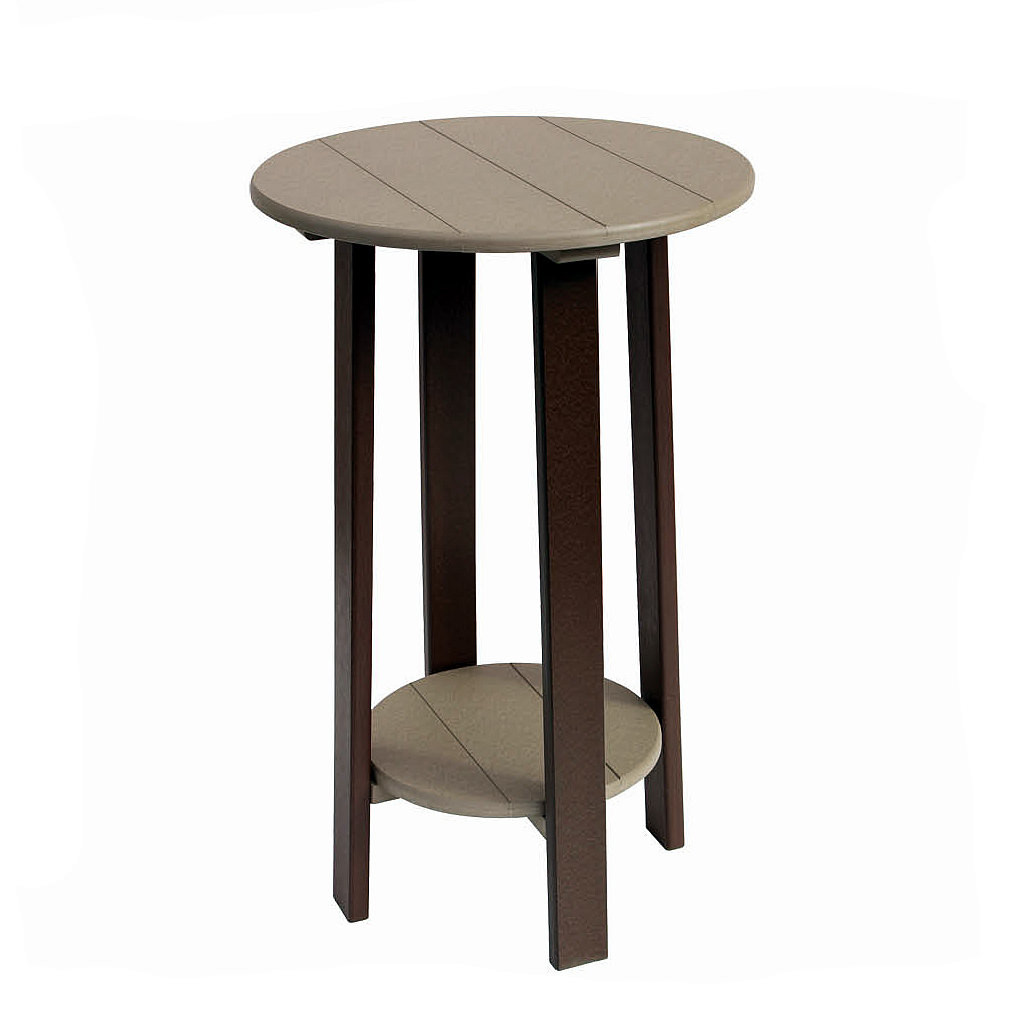 Amish Poly Bar Height Round End Table