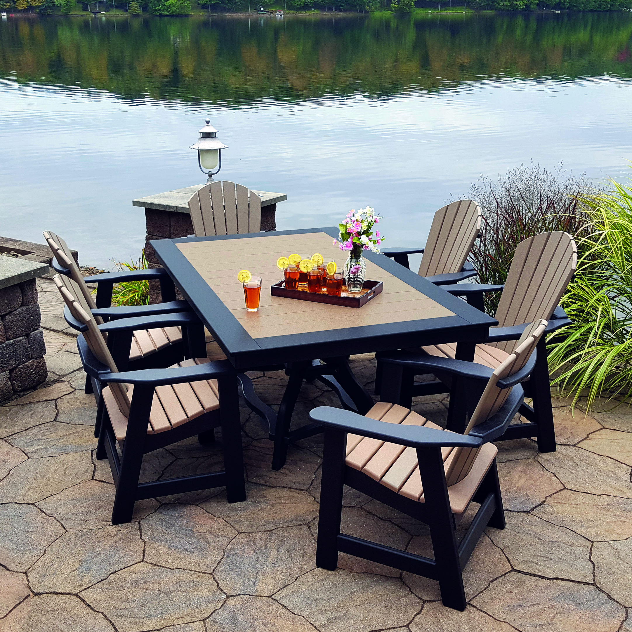 Amish Poly Comfy-Back 7pc Dining Set