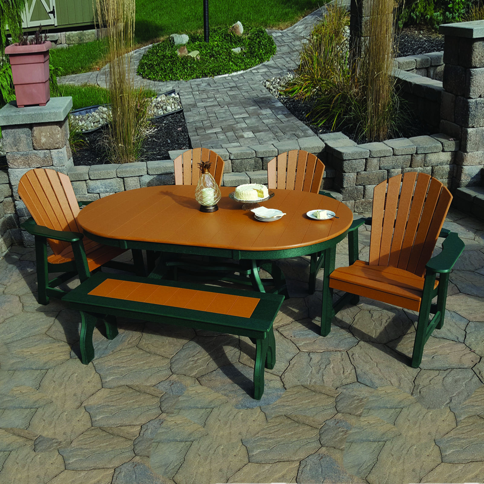 Amish Poly Comfy-Back Dining Set
