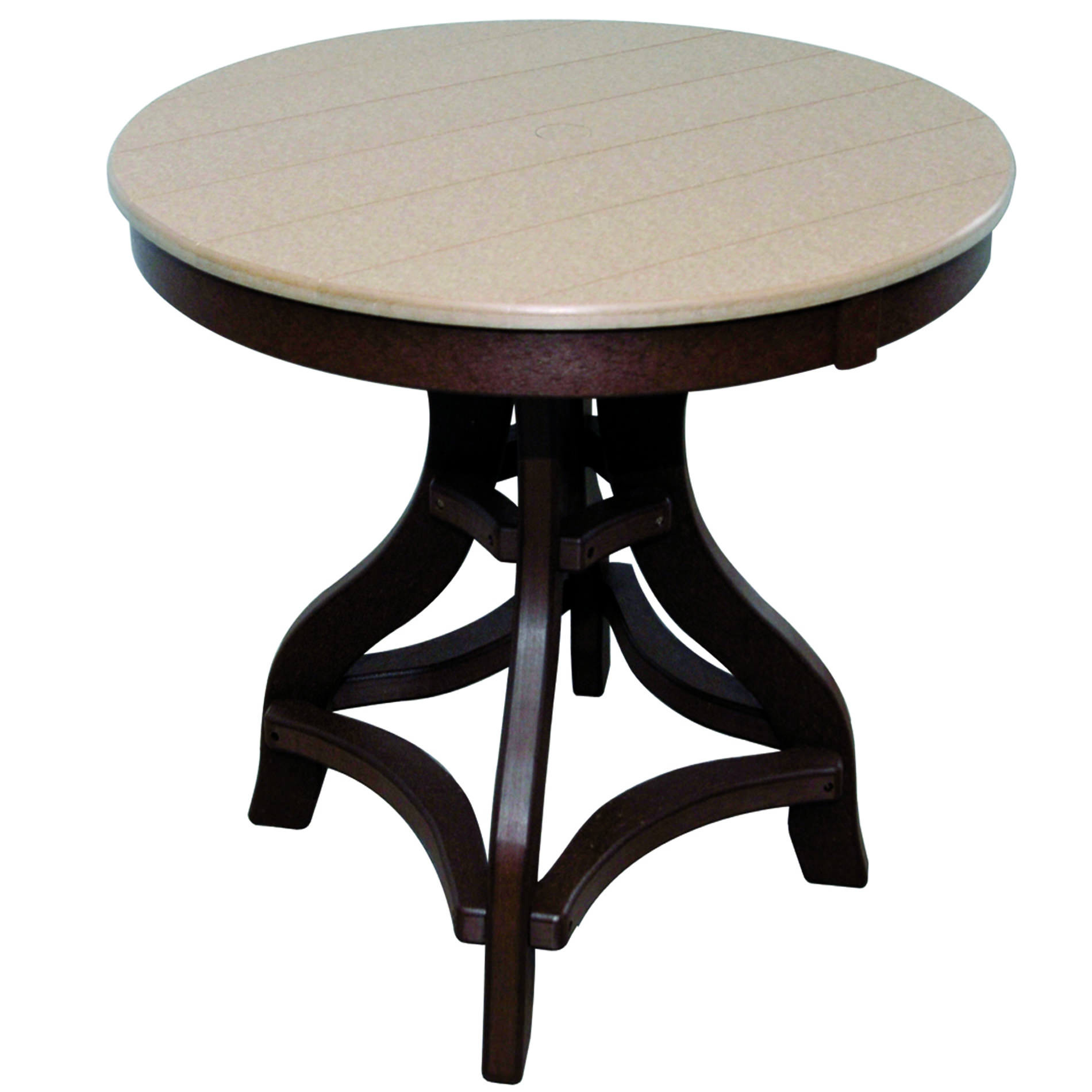 Amish Poly Counter Height 32in Round Table