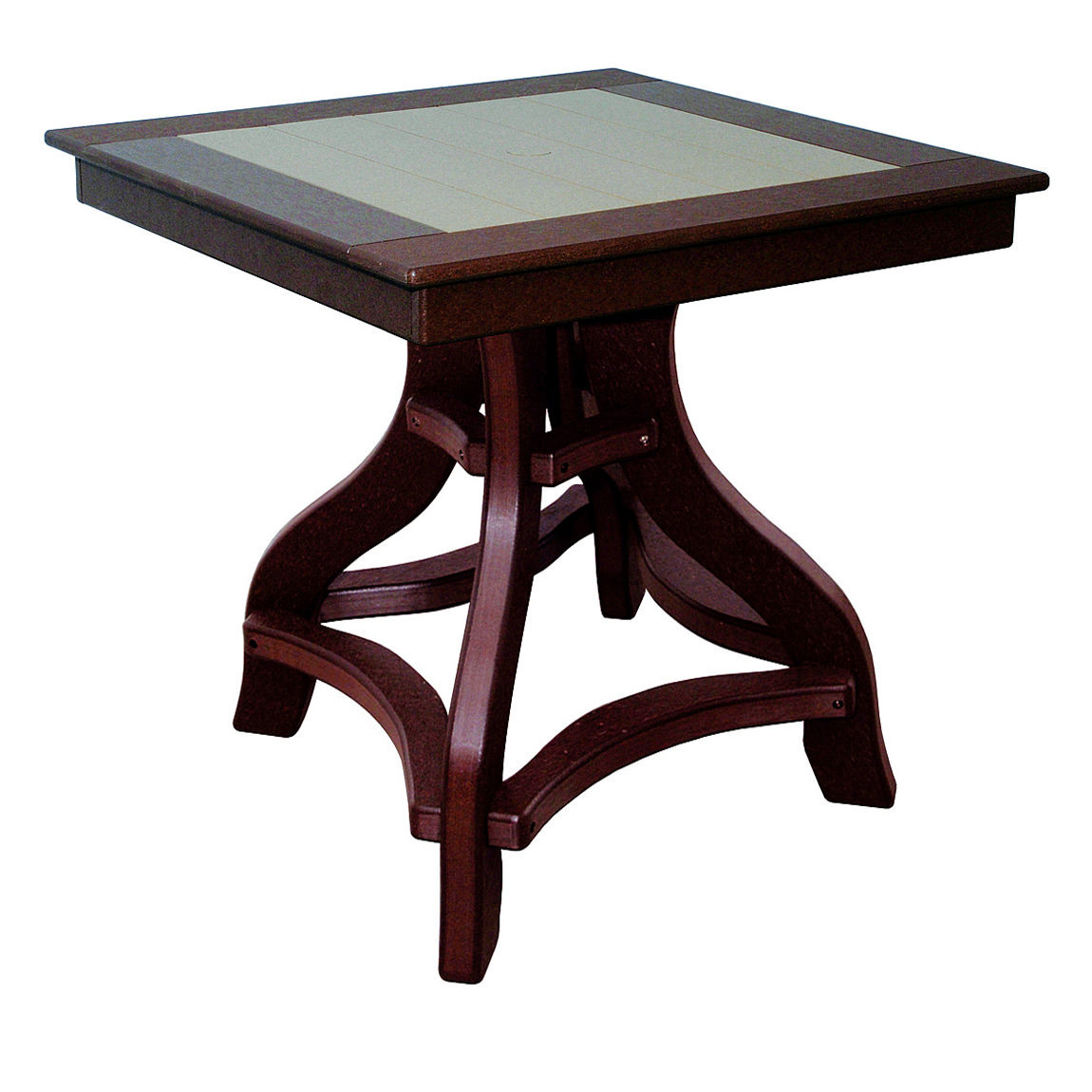 Amish Poly Counter Height 32in Square Table