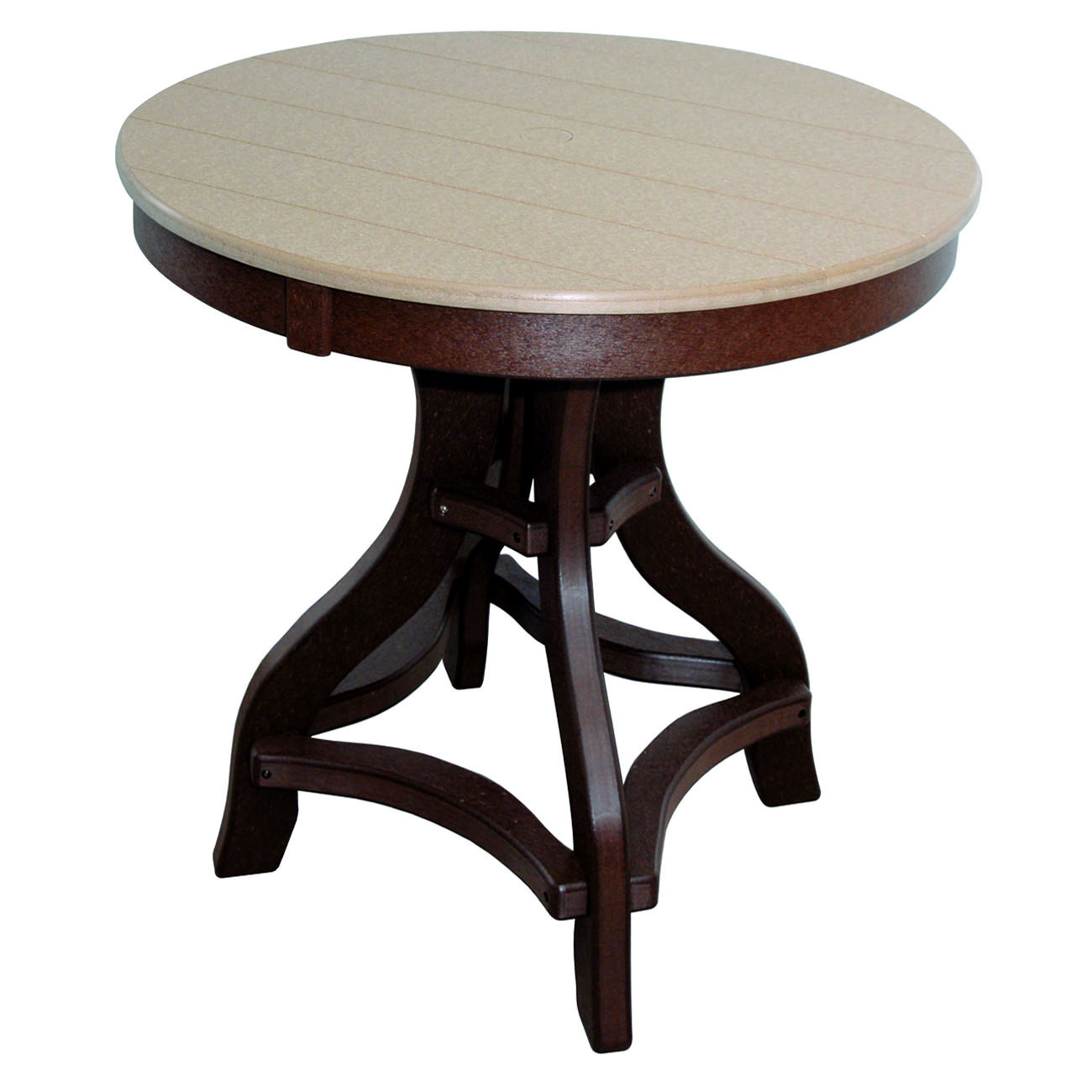 Amish Poly Counter Height 36in Round Table