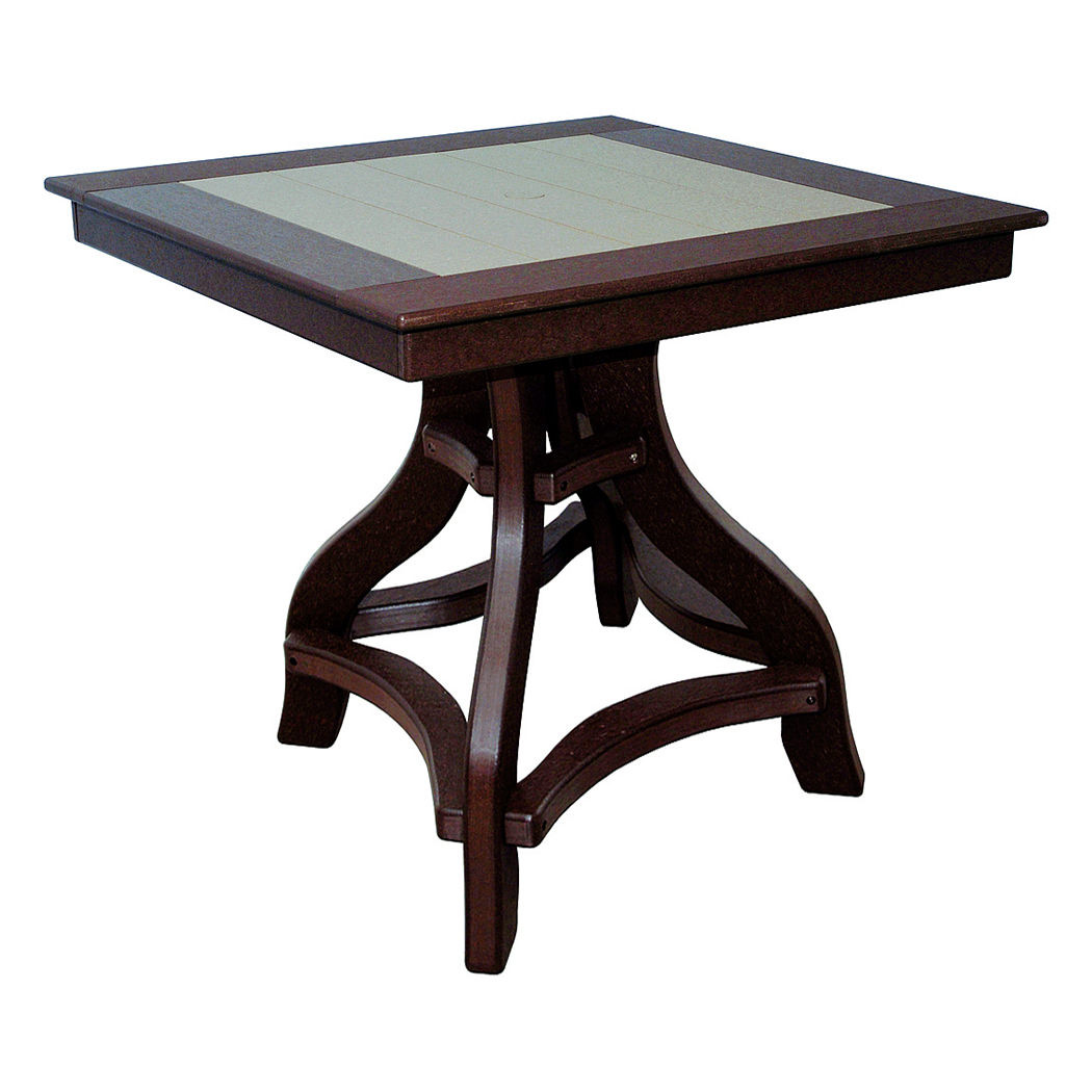 Amish Poly Counter Height 36in Square Table