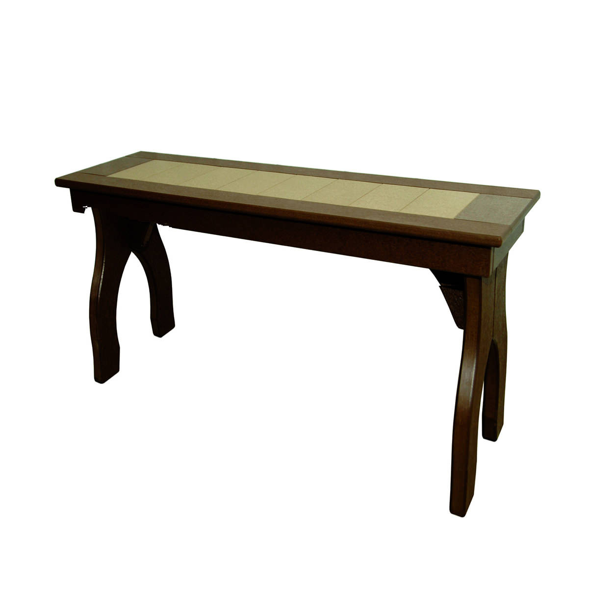Amish Poly Counter Height 40in Backless Bench