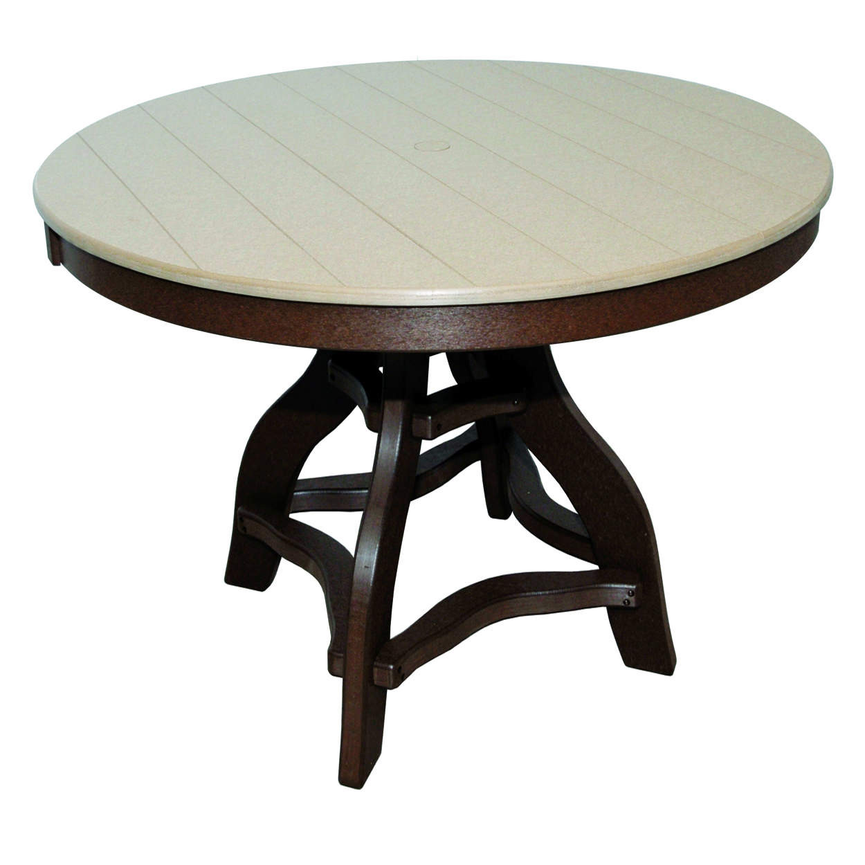Amish Poly Counter Height 44in Round Table