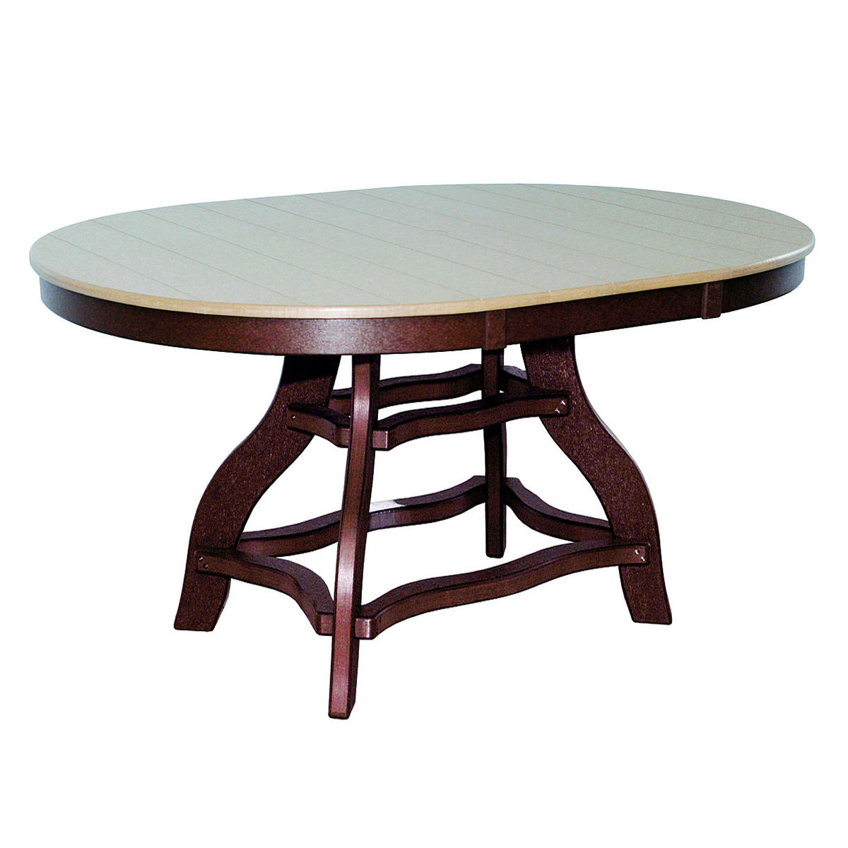 Amish Poly Counter Height 44in x 60in Oval Table