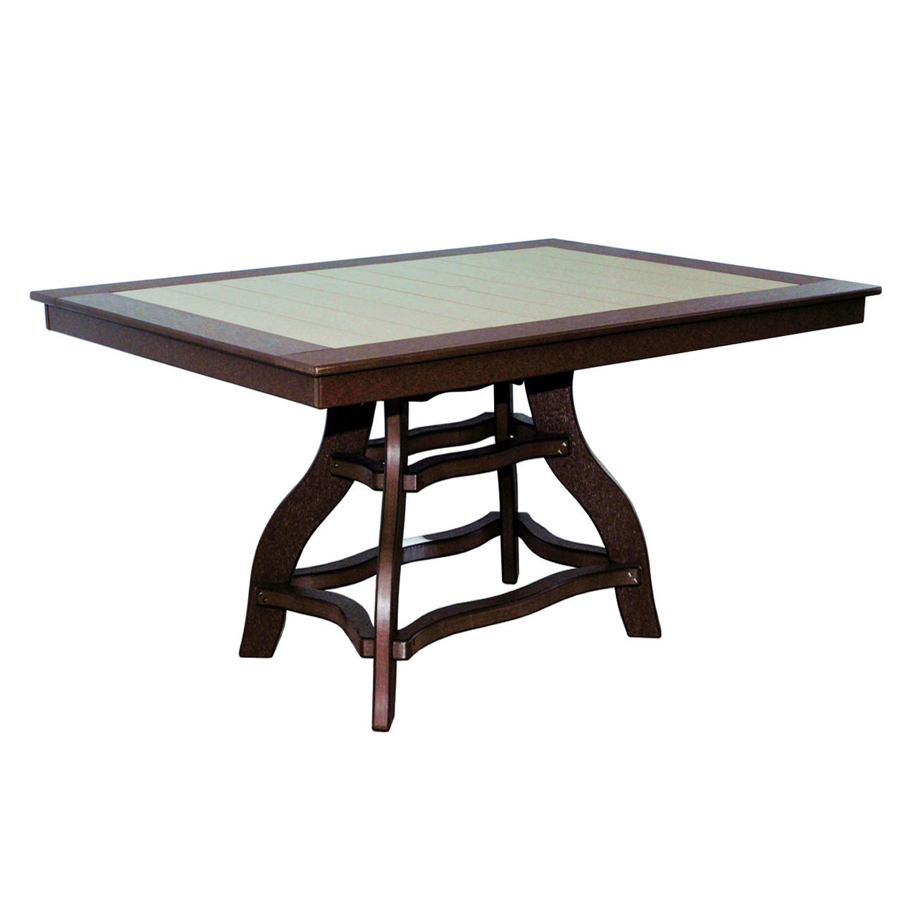 Amish Poly Counter Height 44in x 60in Rectangle Table