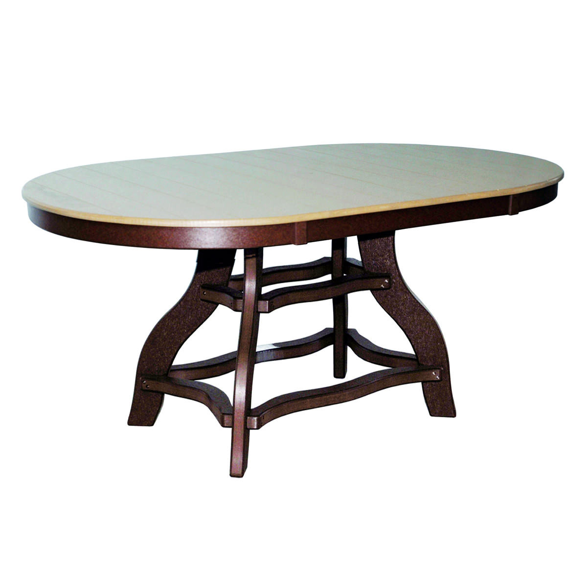 Amish Poly Counter Height 44in x 72in Oval Table