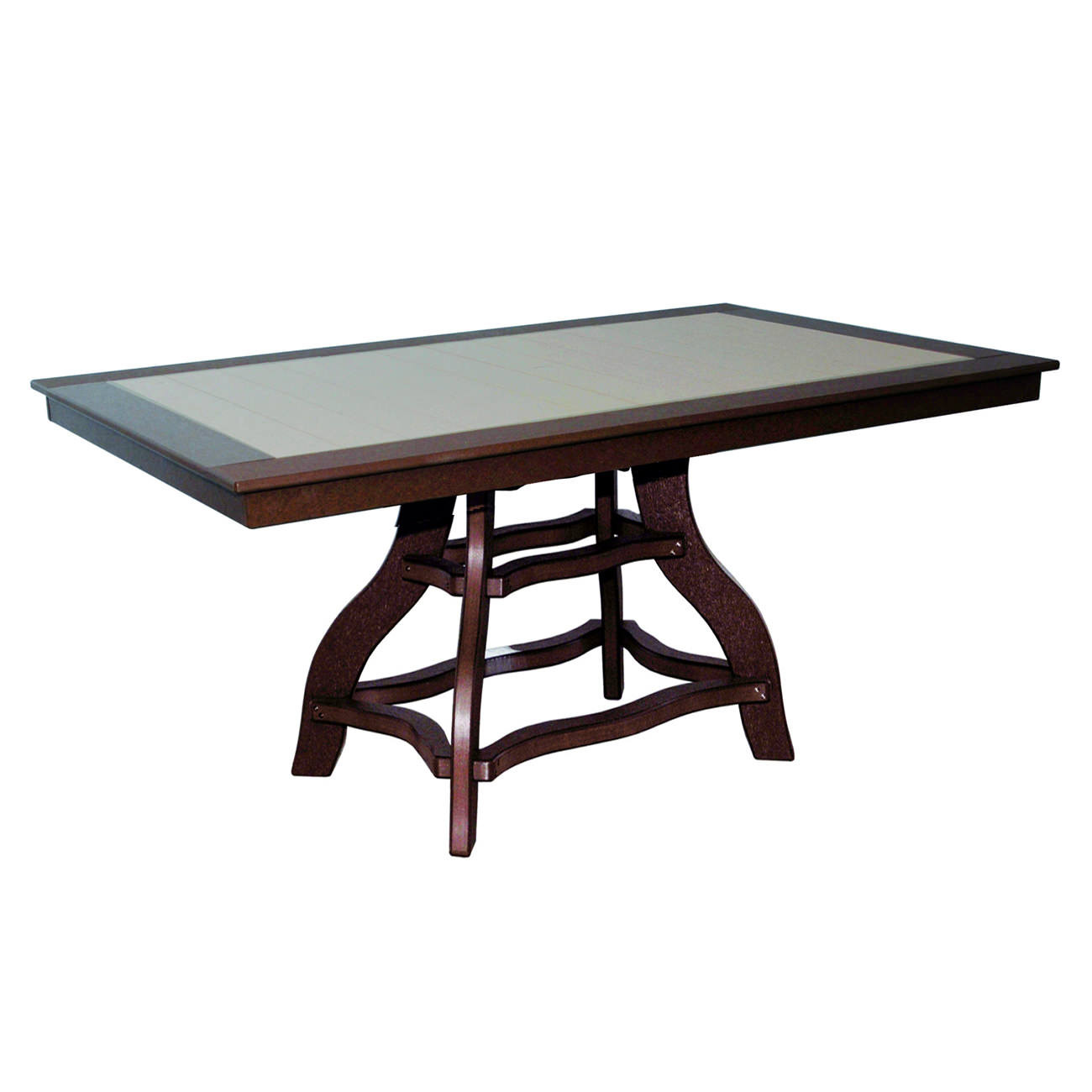 Amish Poly Counter Height 44in x 72in Rectangle Table