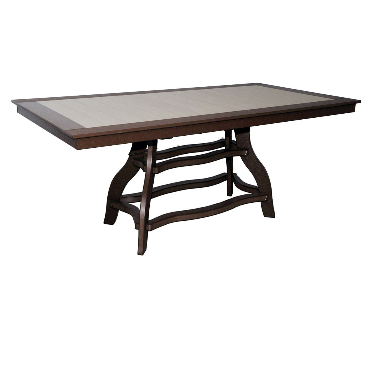 Amish Poly Counter Height 44in x 84in Rectangle Table