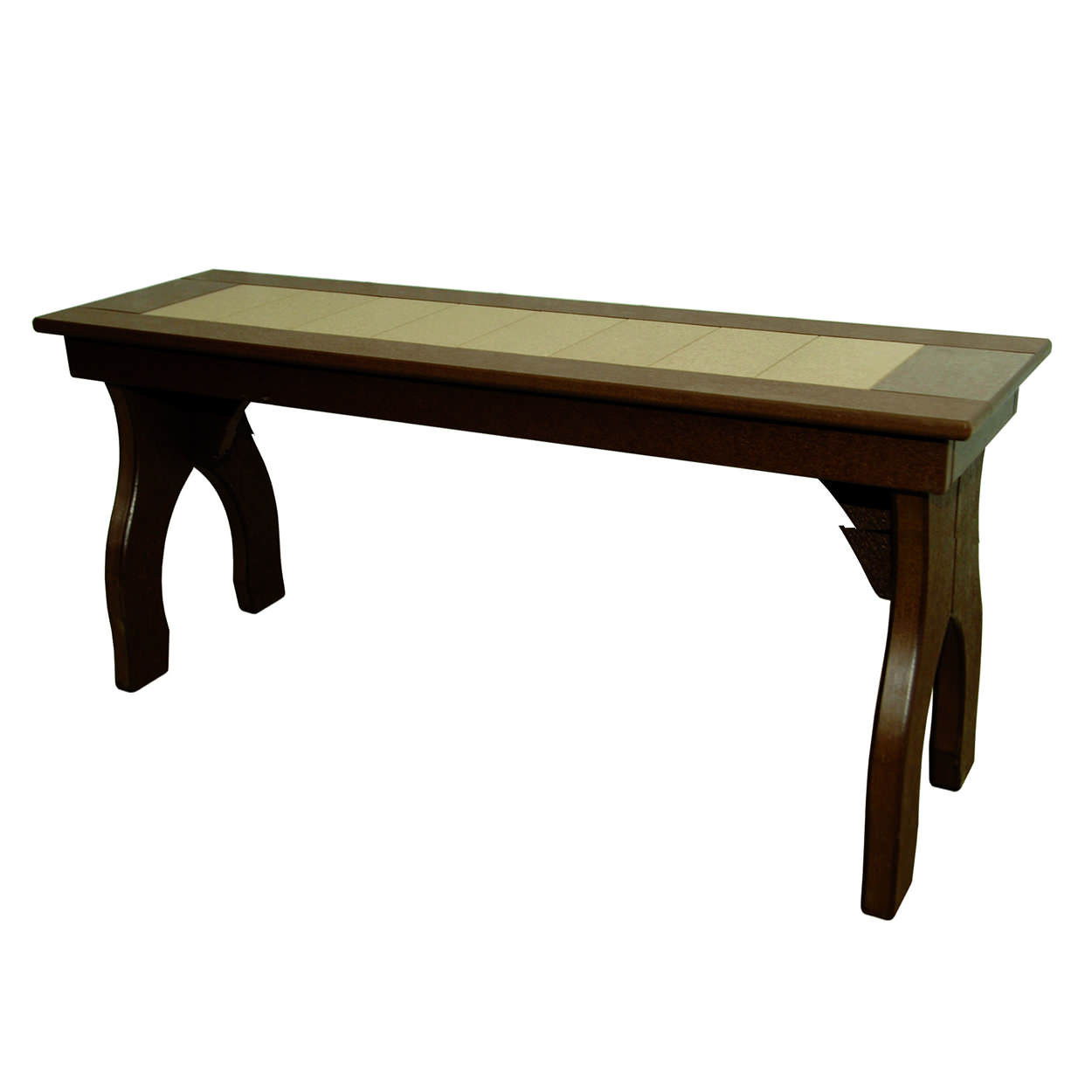 Amish Poly Counter Height 48in Backless Bench