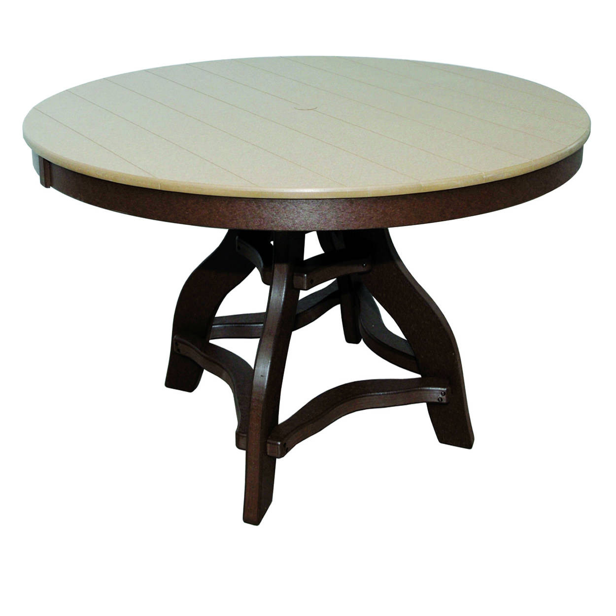 Amish Poly Counter Height 48in Round Table
