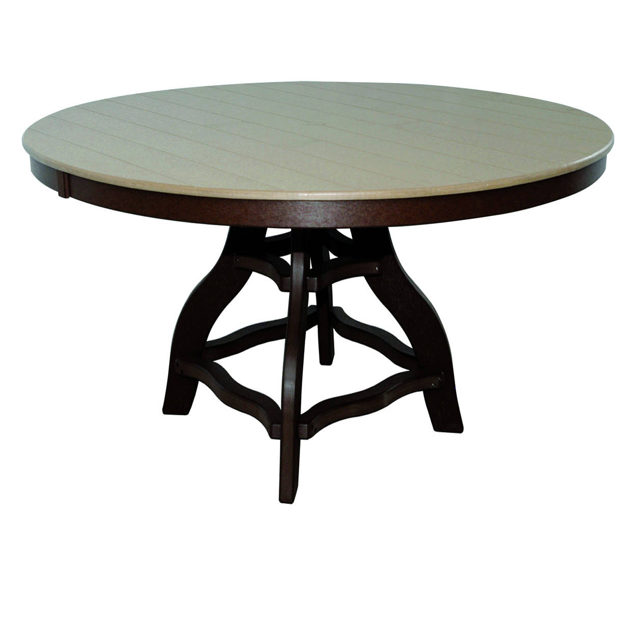 Amish Poly Counter Height 54in Round Table