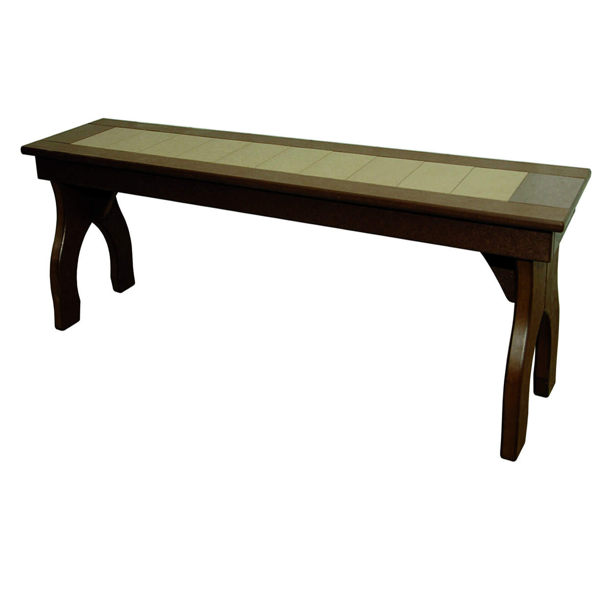 Amish Poly Counter Height 60in Backless Bench