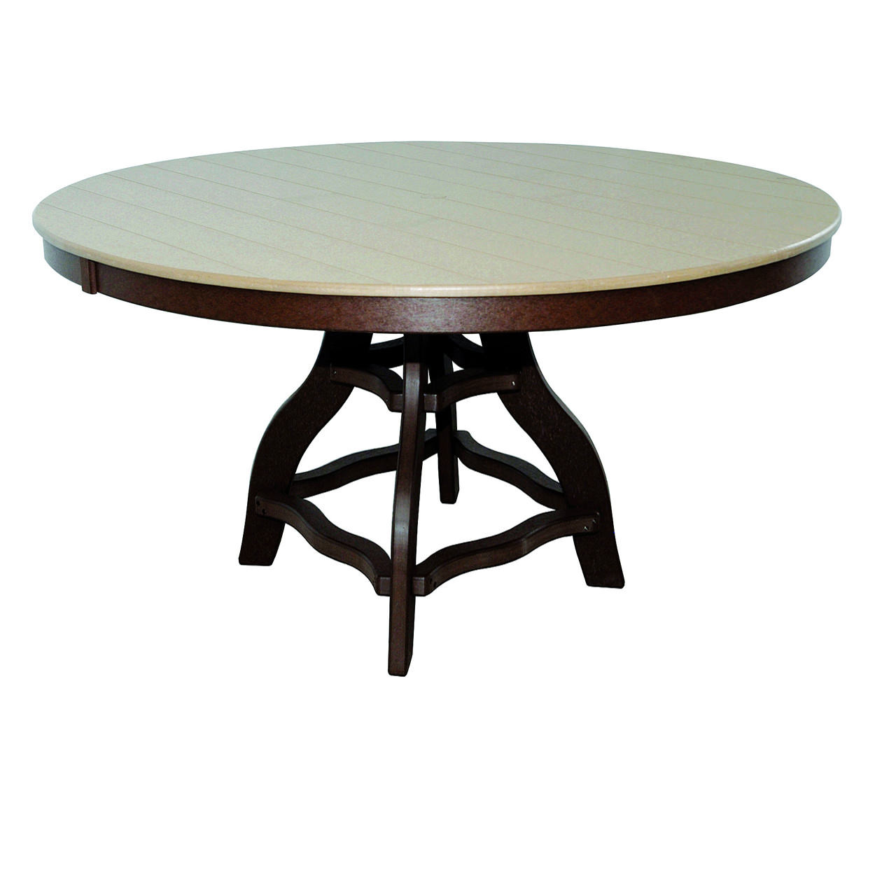 Amish Poly Counter Height 60in Round Table