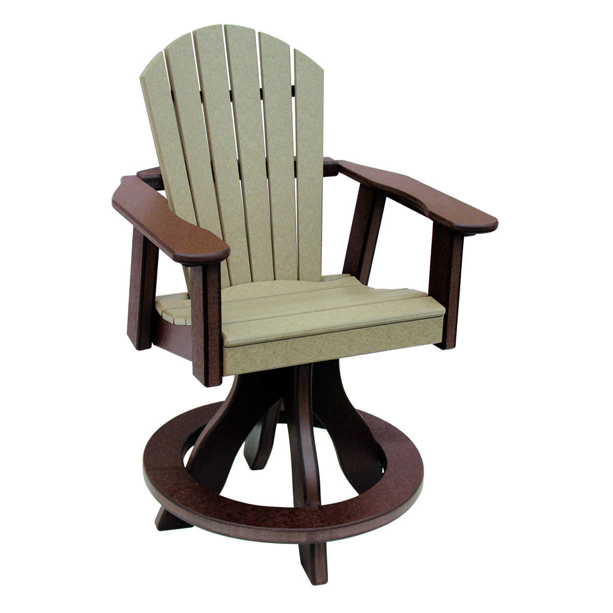 Amish Poly Counter Height Comfy Back Swivel Chair
