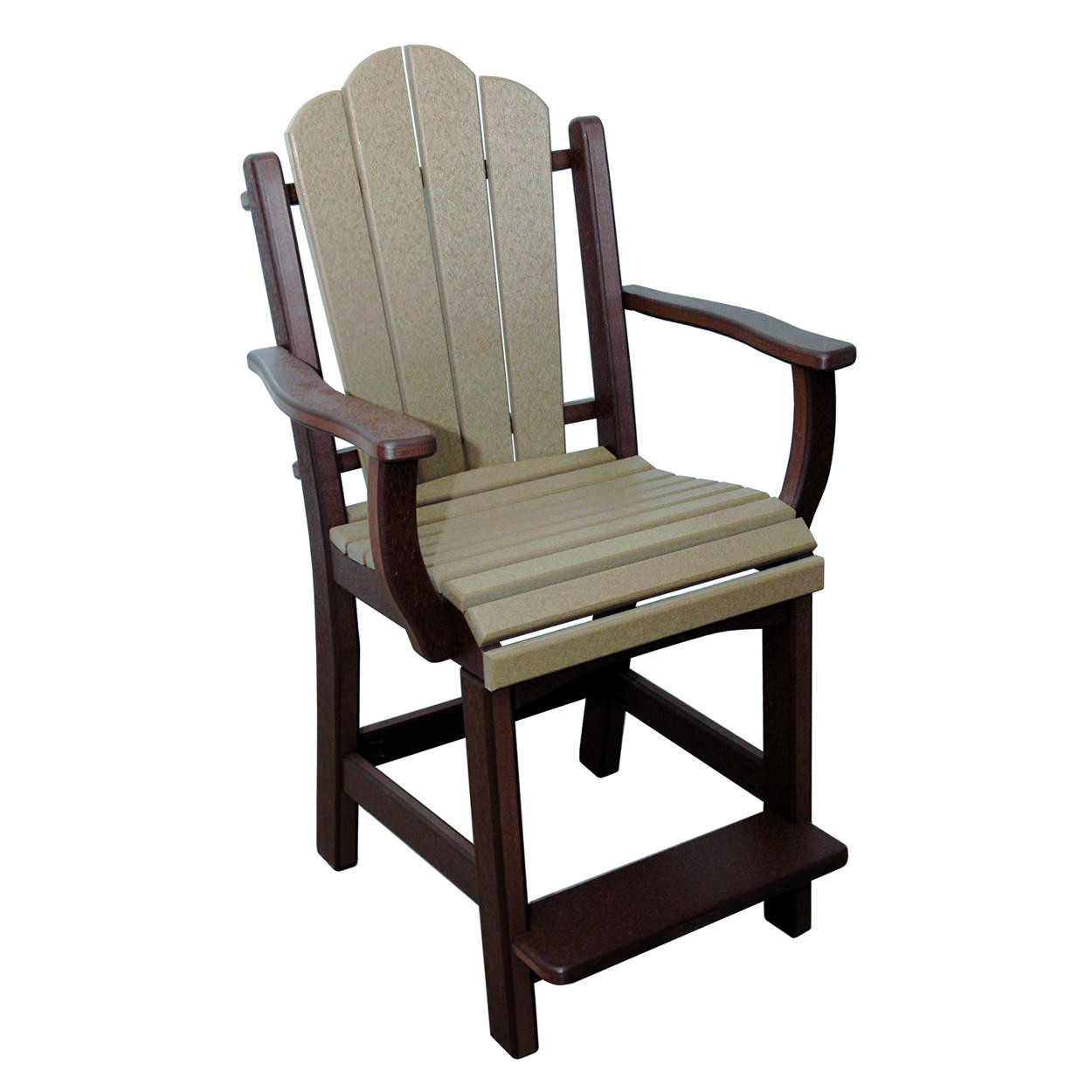 Amish Poly Counter Height Daisy Arm Chair
