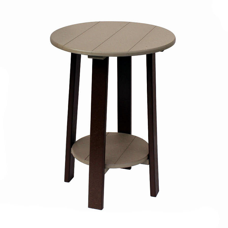 Amish Poly Counter Height Round End Table