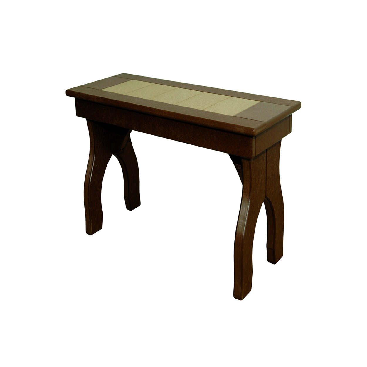 Amish Poly Dining Height 24in Backless Bench