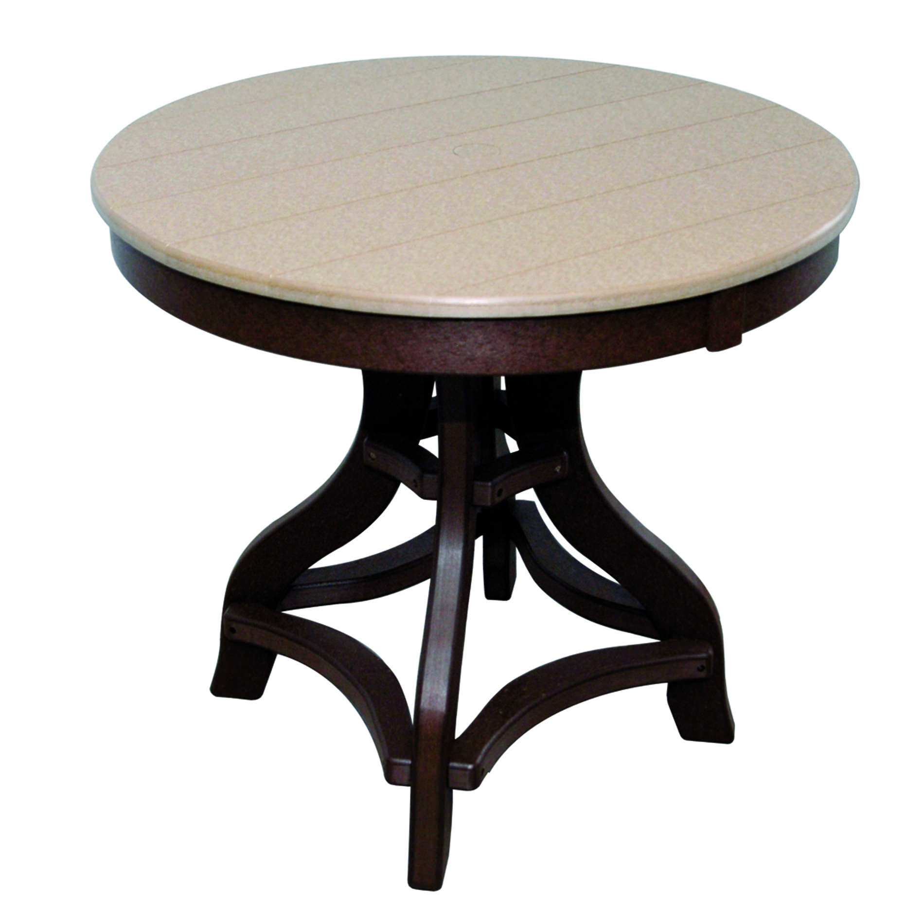 Amish Poly Dining Height 32in Round Table
