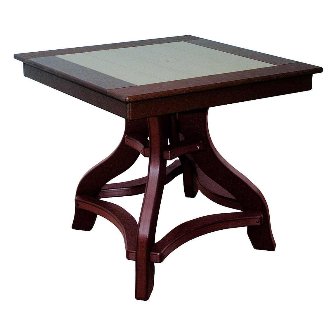 Amish Poly Dining Height 32in Square Table Amish Poly