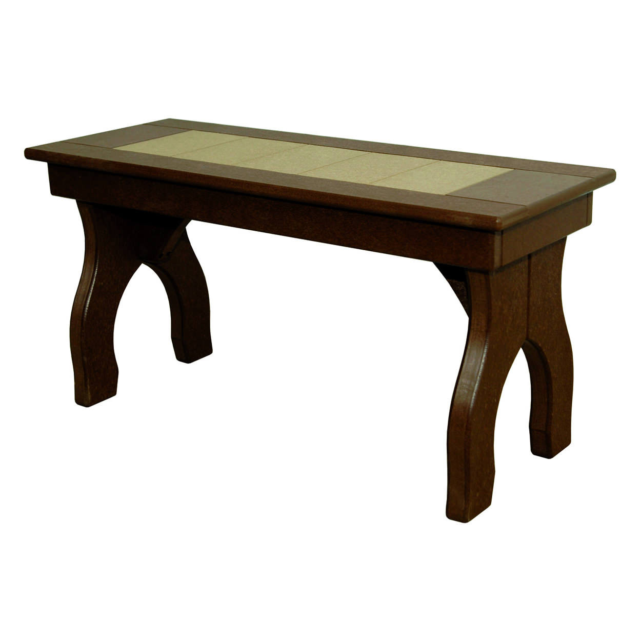 Amish Poly Dining Height 36in Backless Bench