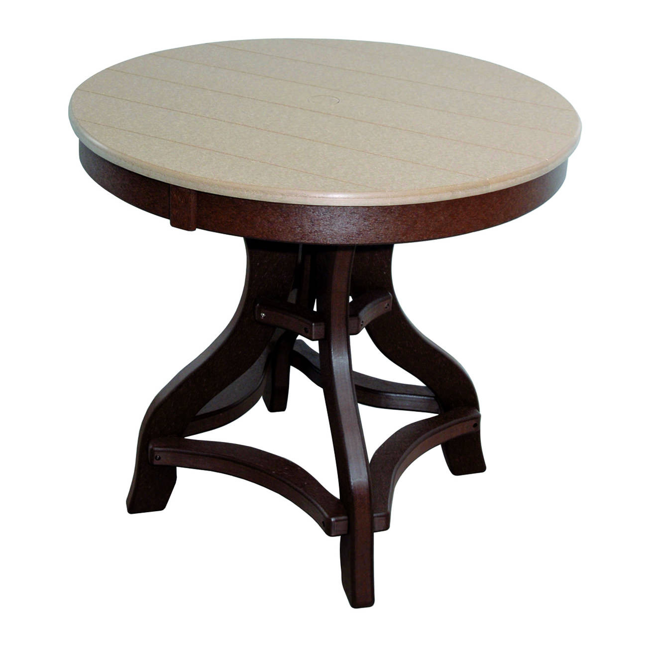 Amish Poly Dining Height 36in Round Table