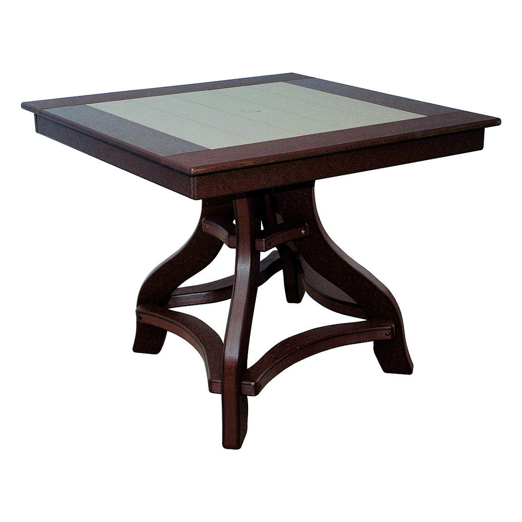 Amish Poly Dining Height 36in Square Table