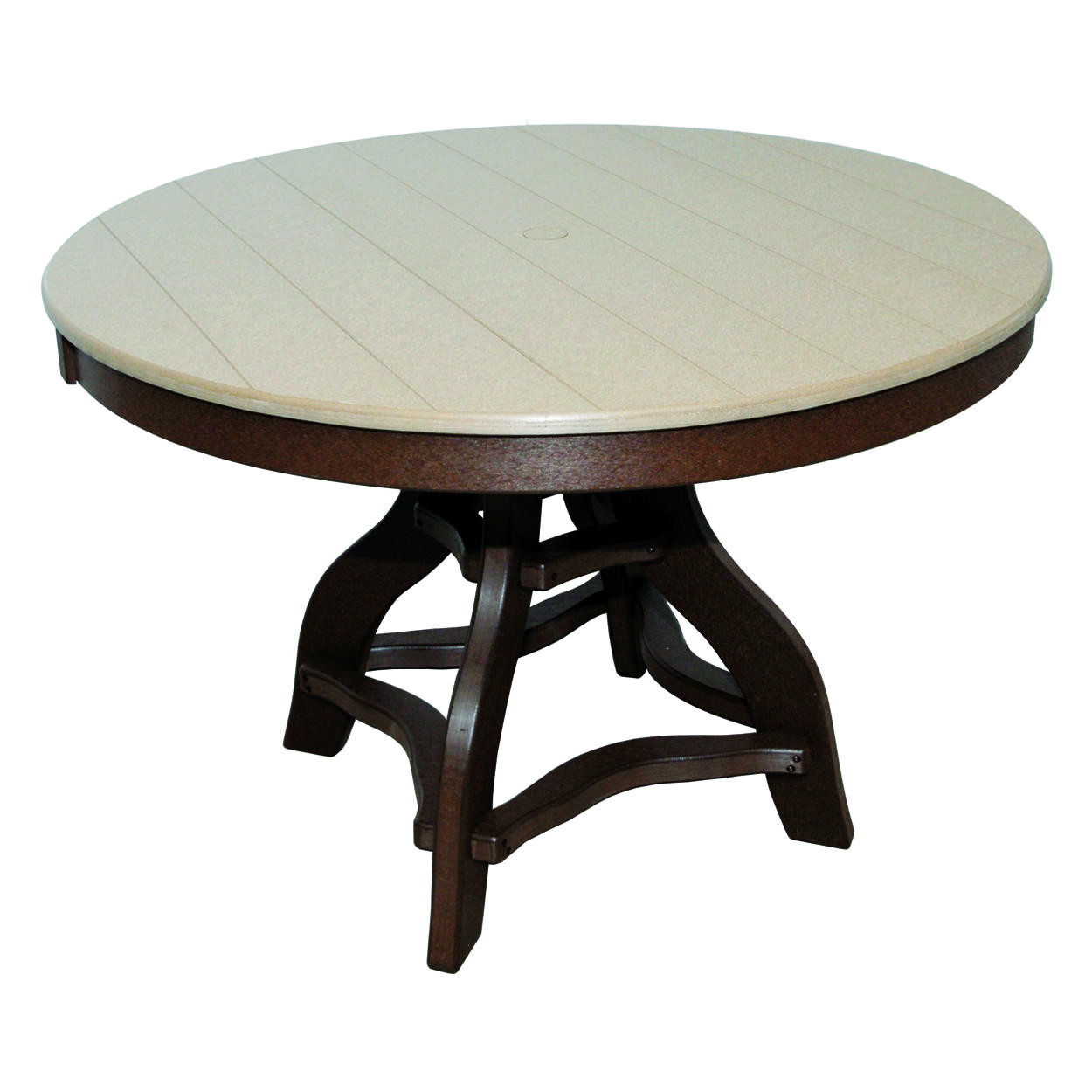 Amish Poly Dining Height 44in Round Table
