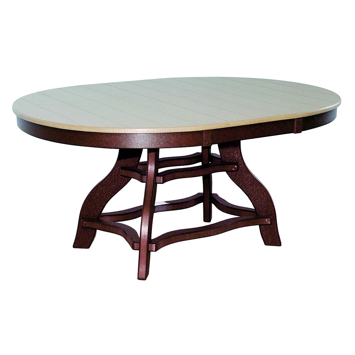 Amish Poly Dining Height 44in x 60in Oval Table