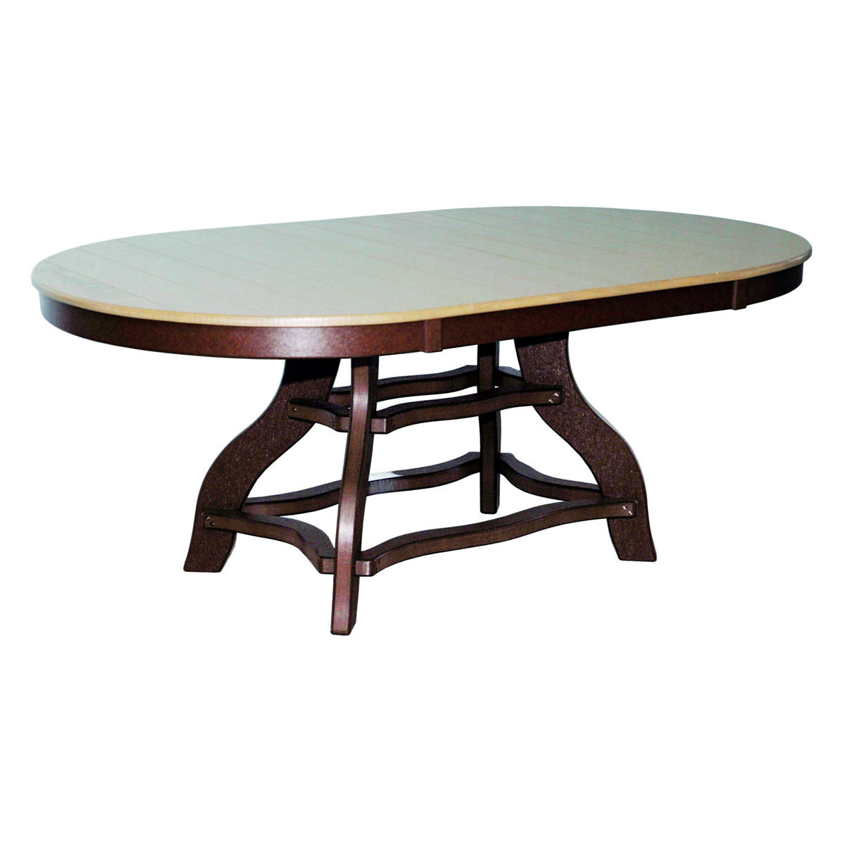 Amish Poly Dining Height 44in x 72in Oval Table