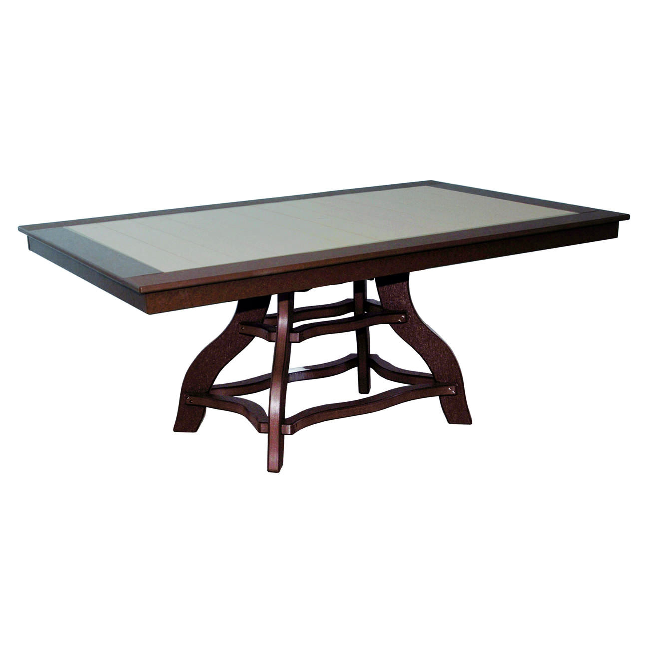 Amish Poly Dining Height 44in x 72in Rectangle Table
