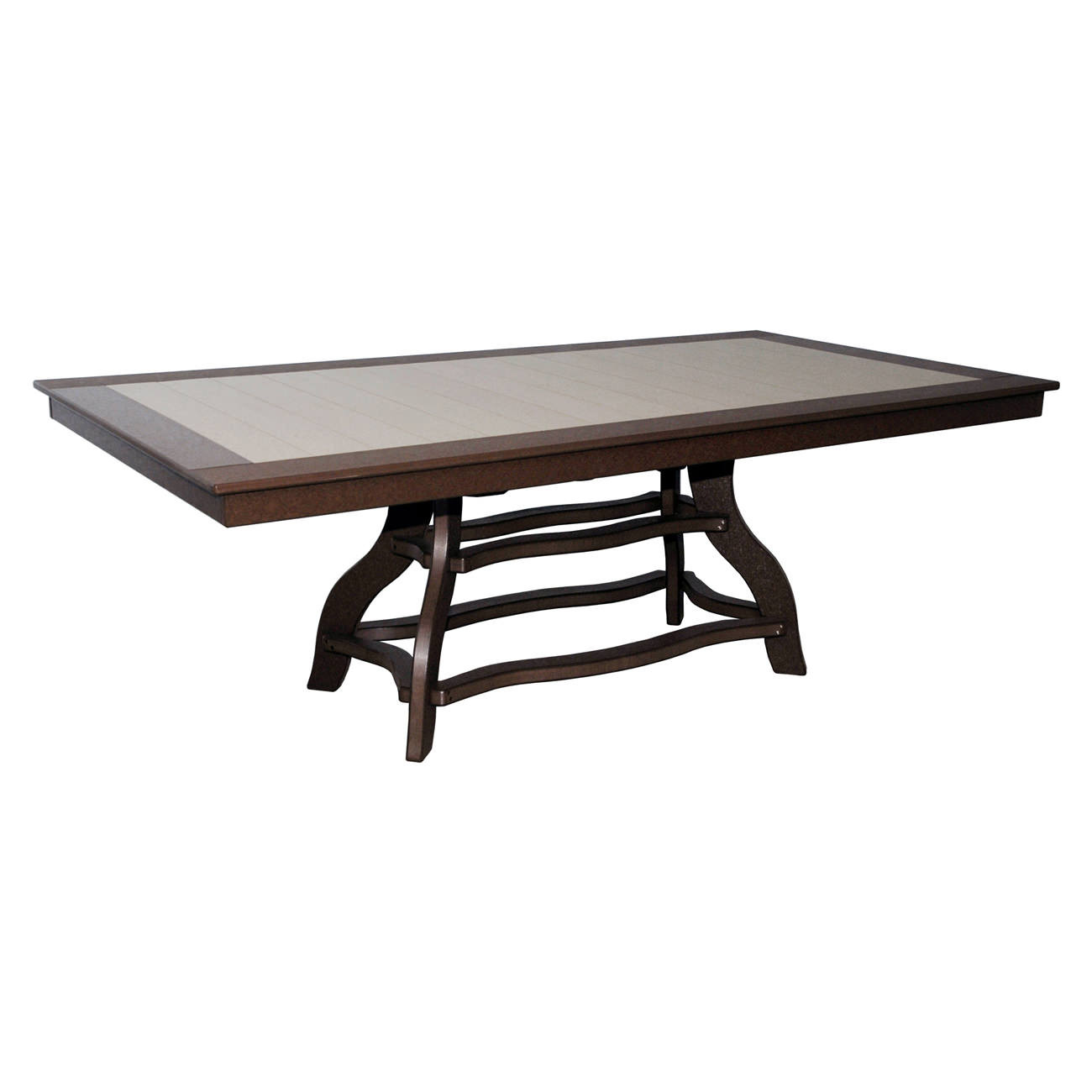 Amish Poly Dining Height 44in x 84in Rectangle Table