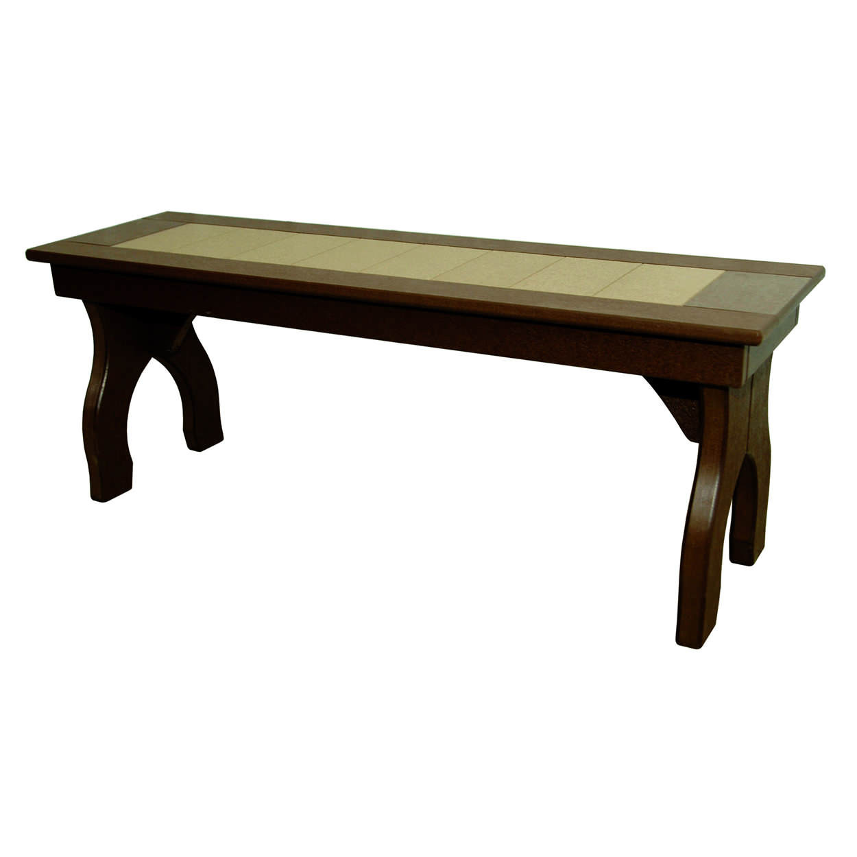Amish Poly Dining Height 48in Backless Bench