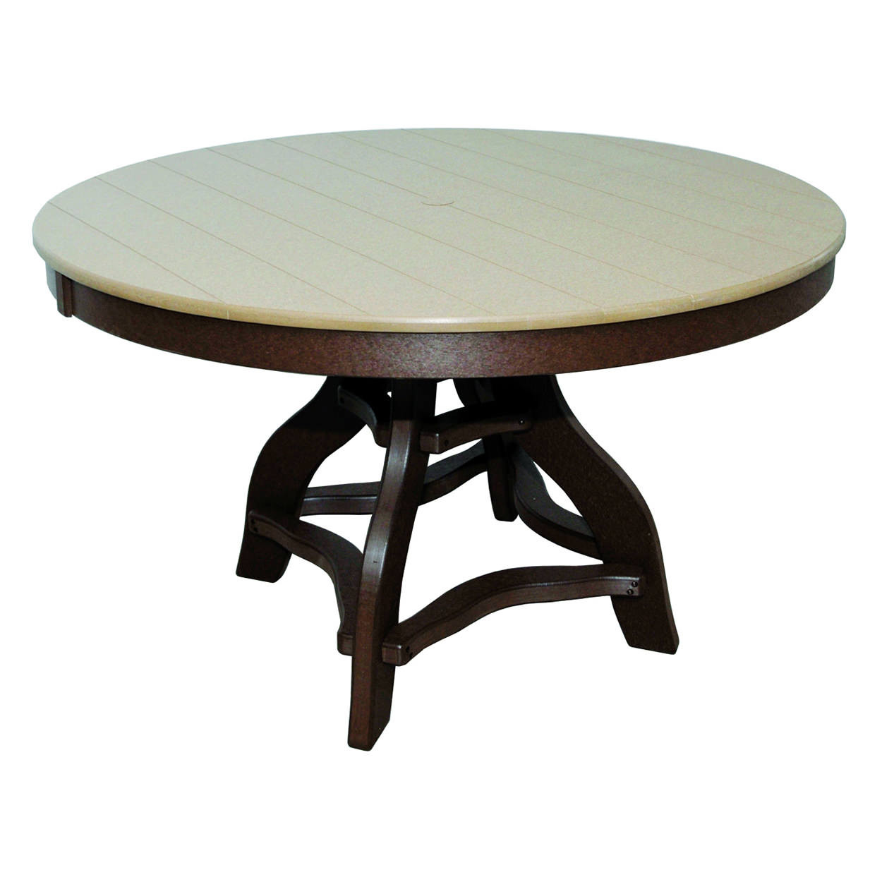 Amish Poly Dining Height 48in Round Table