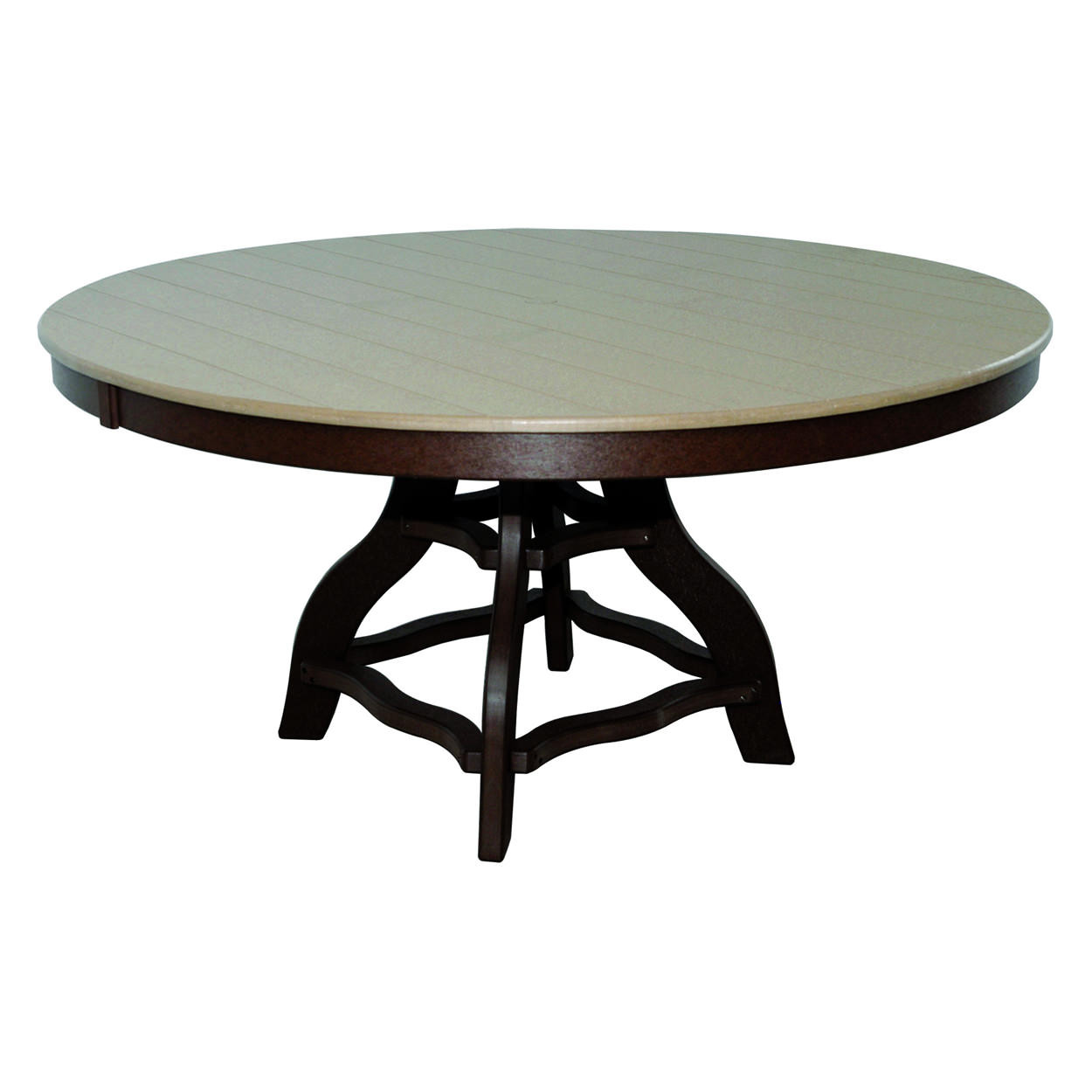 Amish Poly Dining Height 54in Round Table