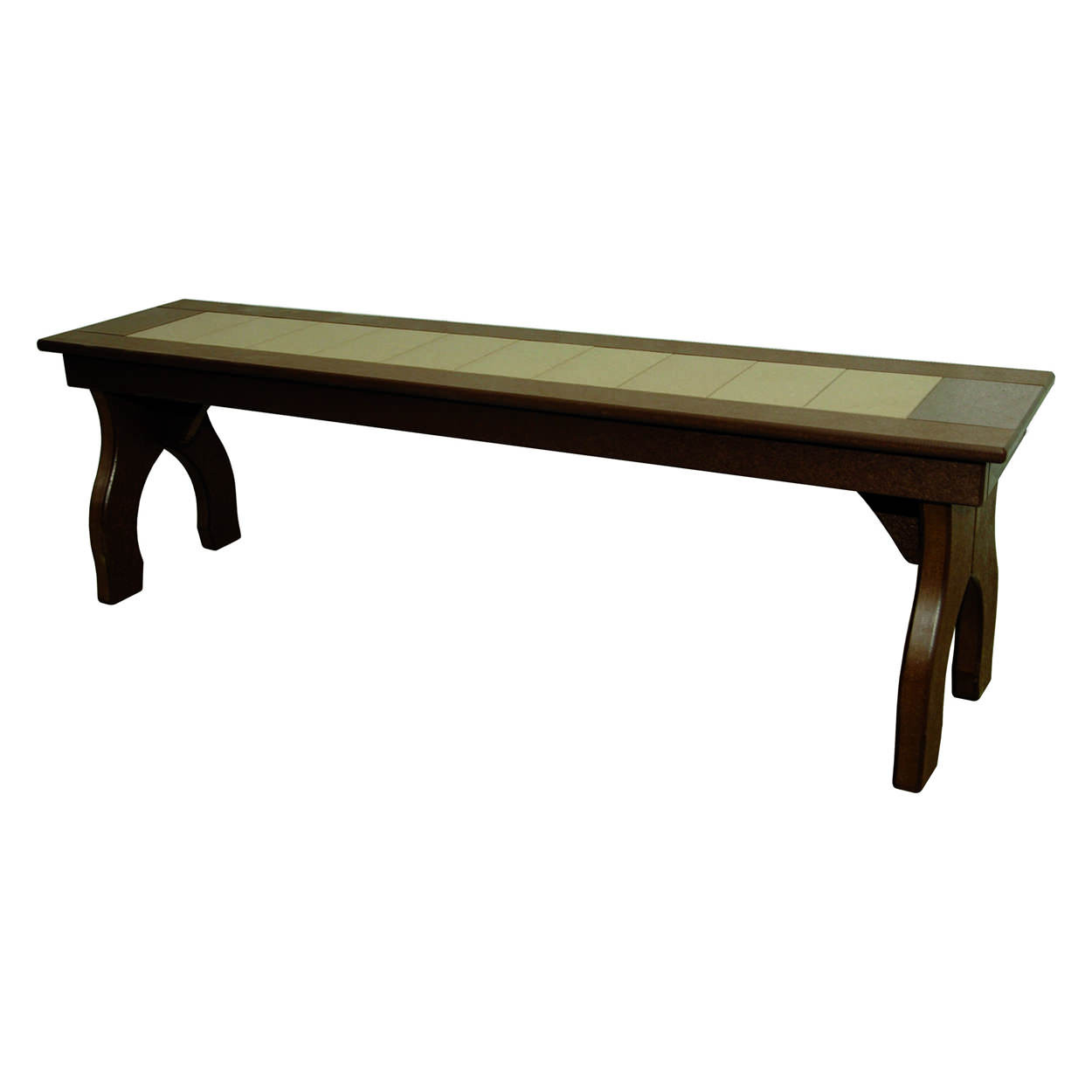 Amish Poly Dining Height 60in Backless Bench