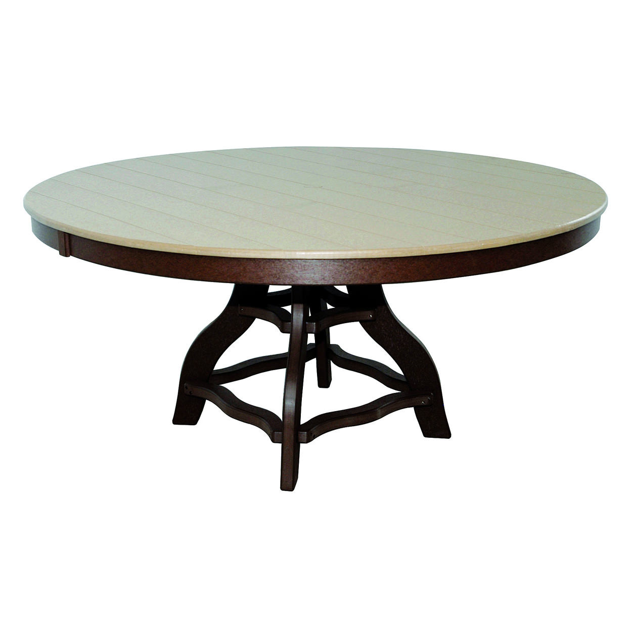 Amish Poly Dining Height 60in Round Table
