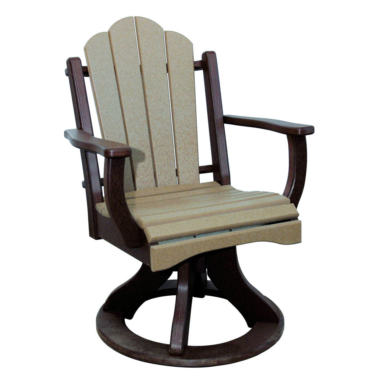 Amish Poly Dining Height Daisy Arm Swivel Chair