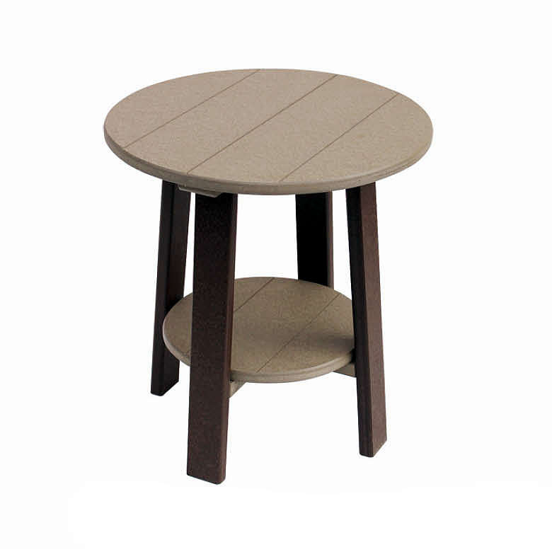 Amish Poly Dining Height Round End Table
