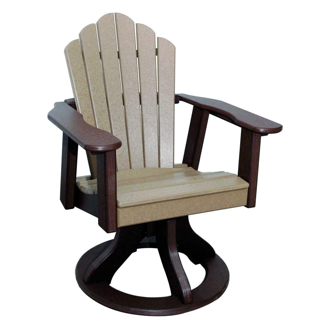 Amish Poly Dining Height Snuggle Back Swivel Chair
