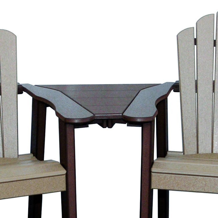Amish Poly Insert Table For Snuggle Back Chair