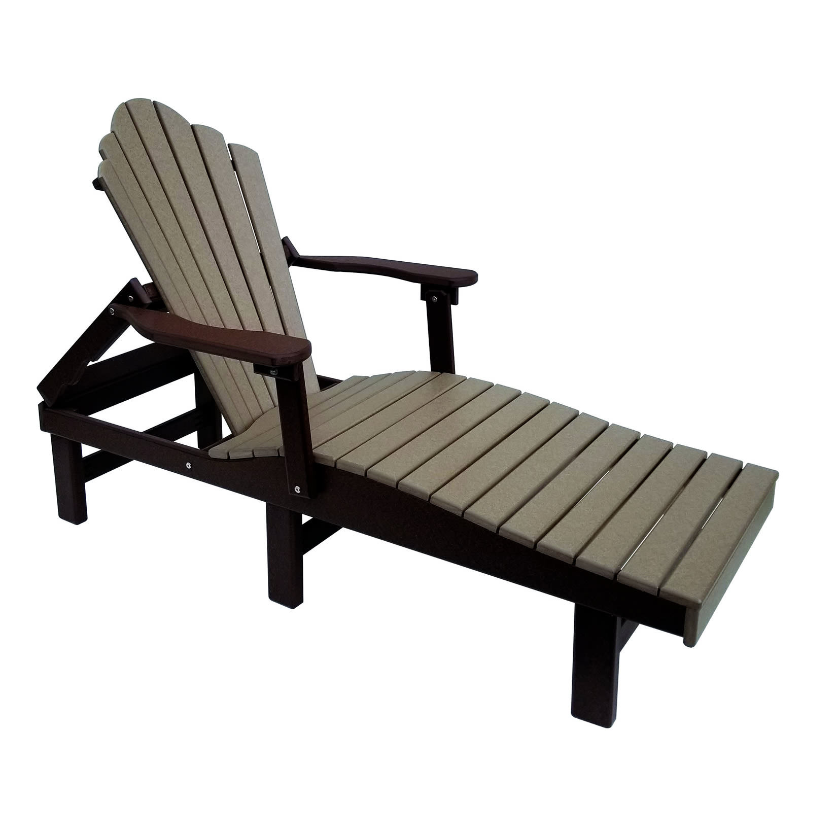 Amish Poly Snuggle-Back Chaise Lounge