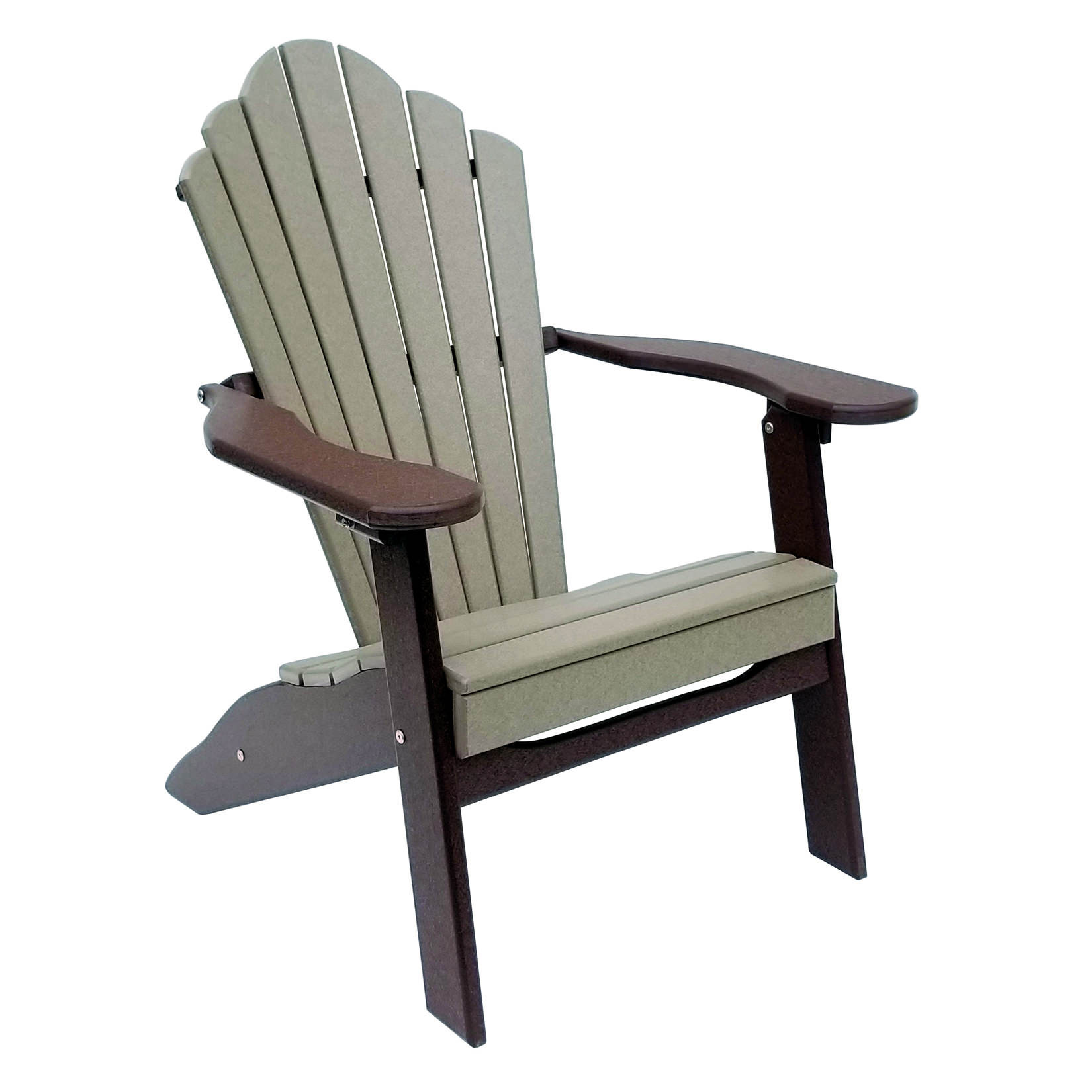 Amish Poly Snuggle-Back Folding Adirondack Chair
