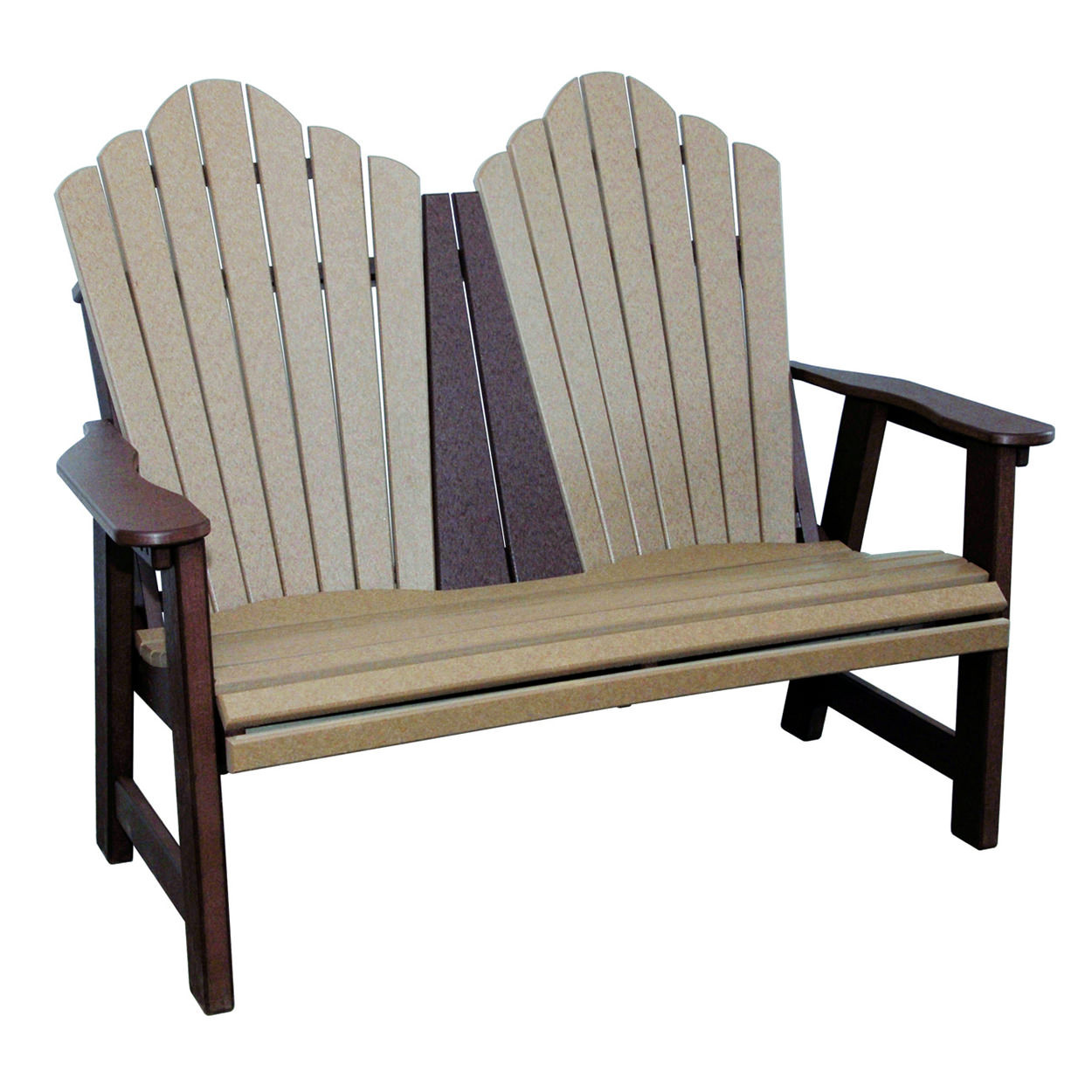 Amish Poly Snuggle-Back Garden Bench